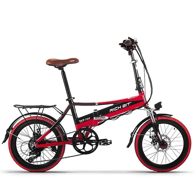 Eléctrica Plegable bicicleta de ciudad Hombres/Damas Bicicleta Bicicleta De Carretera RT700 250W*48V*8Ah 20inch doble suspensión 7Speed desviador Shimano LG ...