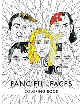 fanciful faces coloring book celebrity coloring book - Celebrity Coloring Book