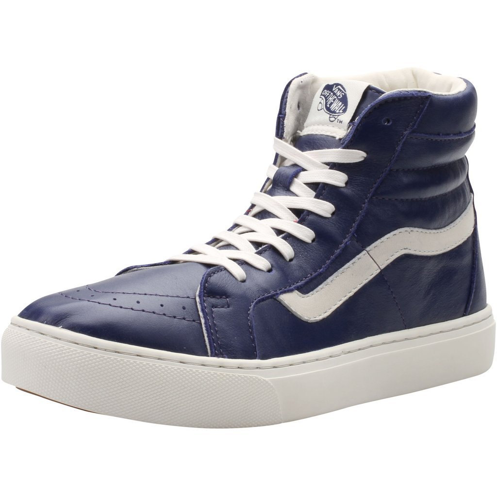 new product 76e21 c6888 Amazon.com | Vans Men's Sk8-Hi Cup CA (Leather) Patriot Blue ...