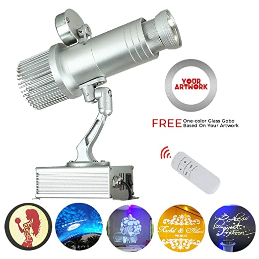 AHWZ Luz LED para Proyector GOBO con Función Giratoria Y Zoom ...