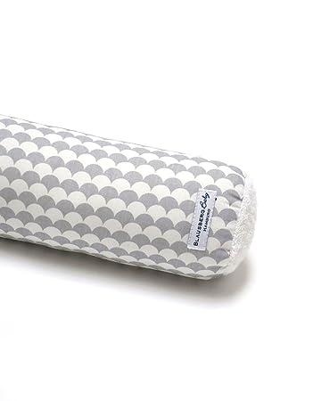 - Materialien OEKO-TEX/® Standard 100 zertifiziert 100 cm Bettschlange Nestchen Bettumrandung Kantenschutz Kopfschutz f/ür Baby- und Kinderbett Schuppe Grau 100/% made in Hamburg Blausberg Baby