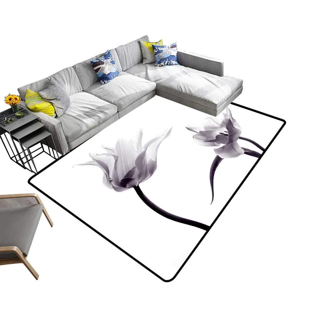 color05 5' X 7' alsohome Silky Smooth Bedroom Mats Tuna Fish Tuna Fish Emblem Eye Tuna Yellow fin Tuna Waterproof and Easy Clean 5' X 7'