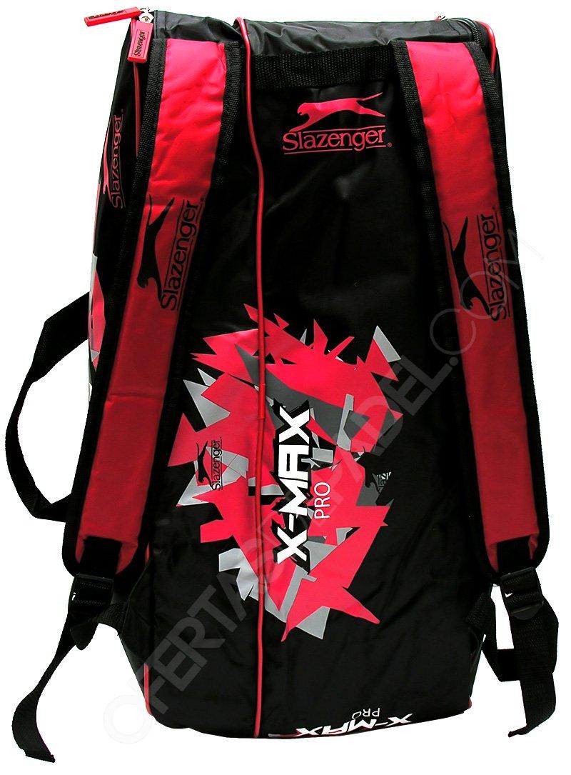 Slazenger X-MAX Pro - Paletero de pádel, Color Negro/Rojo/Blanco ...