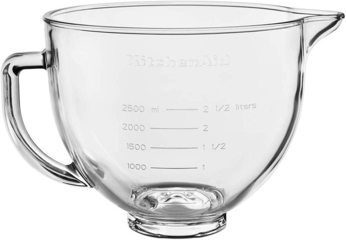 KitchenAid 4.7L BOL DE CRISTAL 5KSM5GB, vidrio, Trasparent
