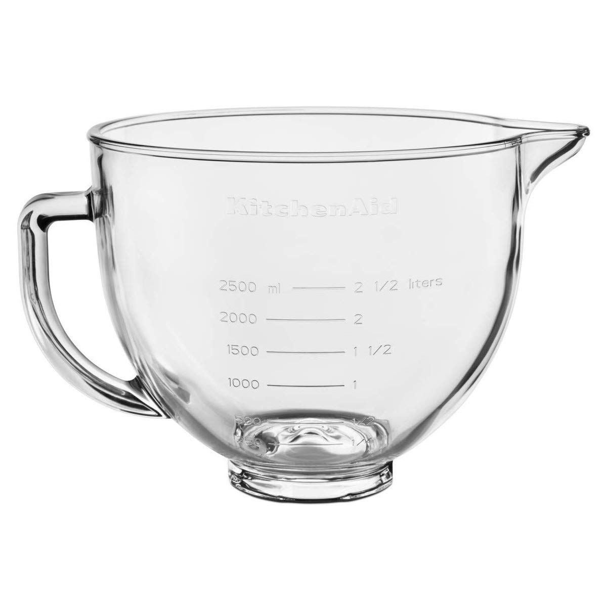 KitchenAid 5KSM5GB Stand Mixer Optional Accessory, Refreshed Glass, Trasparent