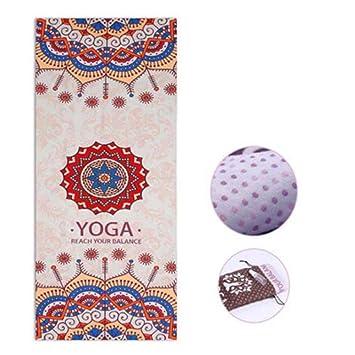 WOOAI Impreso Yoga Mat Toalla Microfibra AbsorberSweat ...