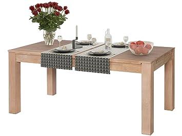 Loft24 Nodin Esszimmertisch Eiche Massiv Esstisch 175x95 Cm Küchentisch Holztisch  Tisch Esszimmer Küche Landhaus