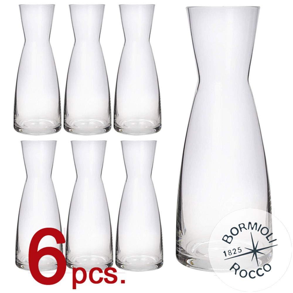 Juego de 6 Unidades de 1 litro Fabricado en Italia Bormioli Rocco de Cristal Star Glass Jarra Ypsilon Transparente