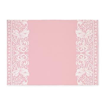 CafePress   Light Pink Damask 5u0027x7u0027Area Rug   Decorative Area Rug,