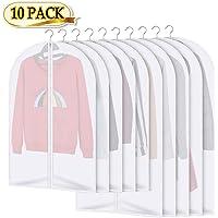 Borse porta abiti 10 pezzi Valigia copri-indumenti - Conservazione a lungo termine di indumenti per giacca Giacca Protezione abito da polvere Falena Danno Plastica trasparente 5x120x60cm 5x100x60cm