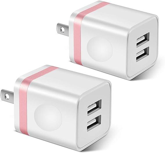 SEN Doble Adaptador de Cargador de alimentaci/ón para 2 Puertos USB para iPhone6 // 6PLUS 5S para iPod c/ámara Negro