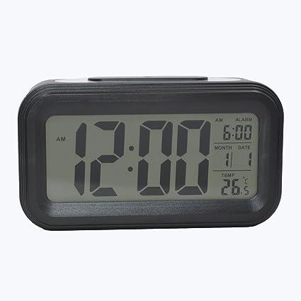 COOJA Reloj Despertador Digital con Sonido Fuerte, Alarma Despertador a Pilas con Numeros Grandes Snooze
