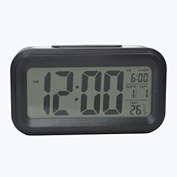 COOJA Reloj Despertador Digital con Sonido Fuerte, Alarma Despertador a Pilas con Numeros Grandes Snooze Luz Temperatura 12/24H, Despertadores de Viaje para ...