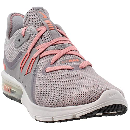 efbfa32c17 Nike Women's WMNS Air Max Sequent 3, Atmosphere Grey/Crimson Pulse, ...