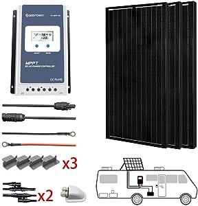 ACOPOWER 300 Watts Monocrystalline Panel Solar