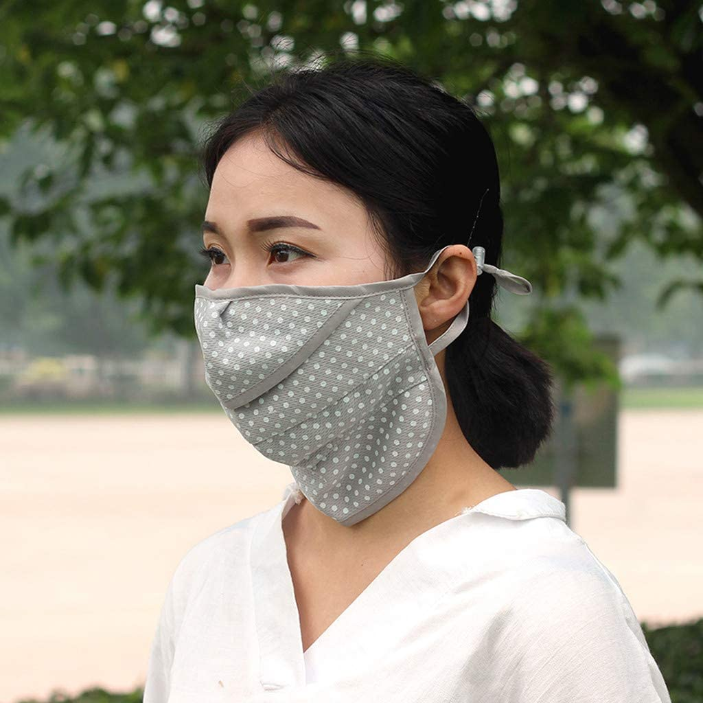 Toimothcn Unisex Anti-dust Sun Protection Reusable Mouth Face Masks Mouth Cover for Men Woman Gray 4,One Size