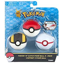 Pokemon Throw \'N\' Catch Poké Ball 3 Pack