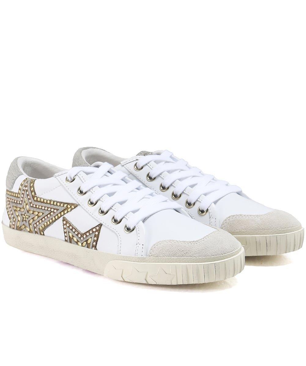 Ash Magic White Leather Star Motif Sneakers 39 EU|White Leather
