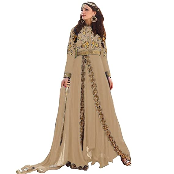 8fcb135ca64 Buy Full Length Long Anarkali Dress Online Shopping At Low Price   Amazon.in  Clothing   Accessories