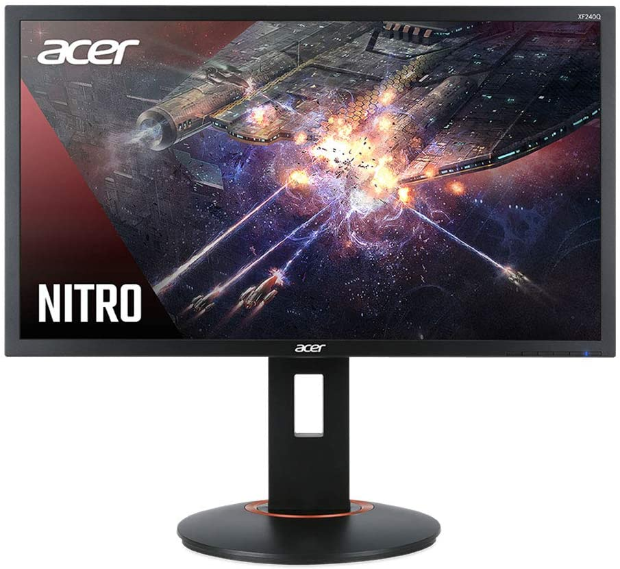 "Acer Nitro XFA240Q Sbiipr 23.6"" FHD (1920 x 1080) Gaming Monitor with AMD Radeon FreeSync Technology, 1ms (G to G), Up to 165Hz, (1 x Display Port & 2 x HDMI 2.0 Ports), Black"