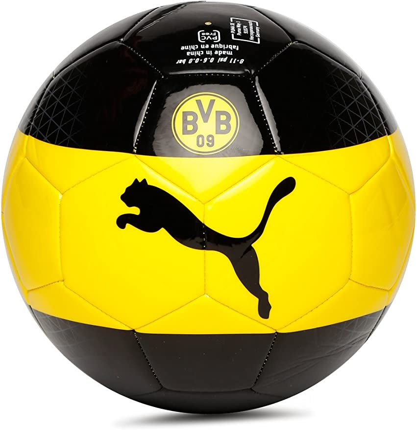 Puma Borussia Dortmund (BVB) Ventilador de balón de fútbol, tamaño ...