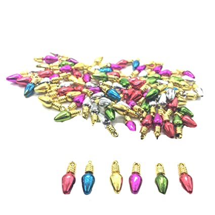 huele 100pcs mini light bulb beads for christmas tree holiday decoration christmas charms pendants10mm