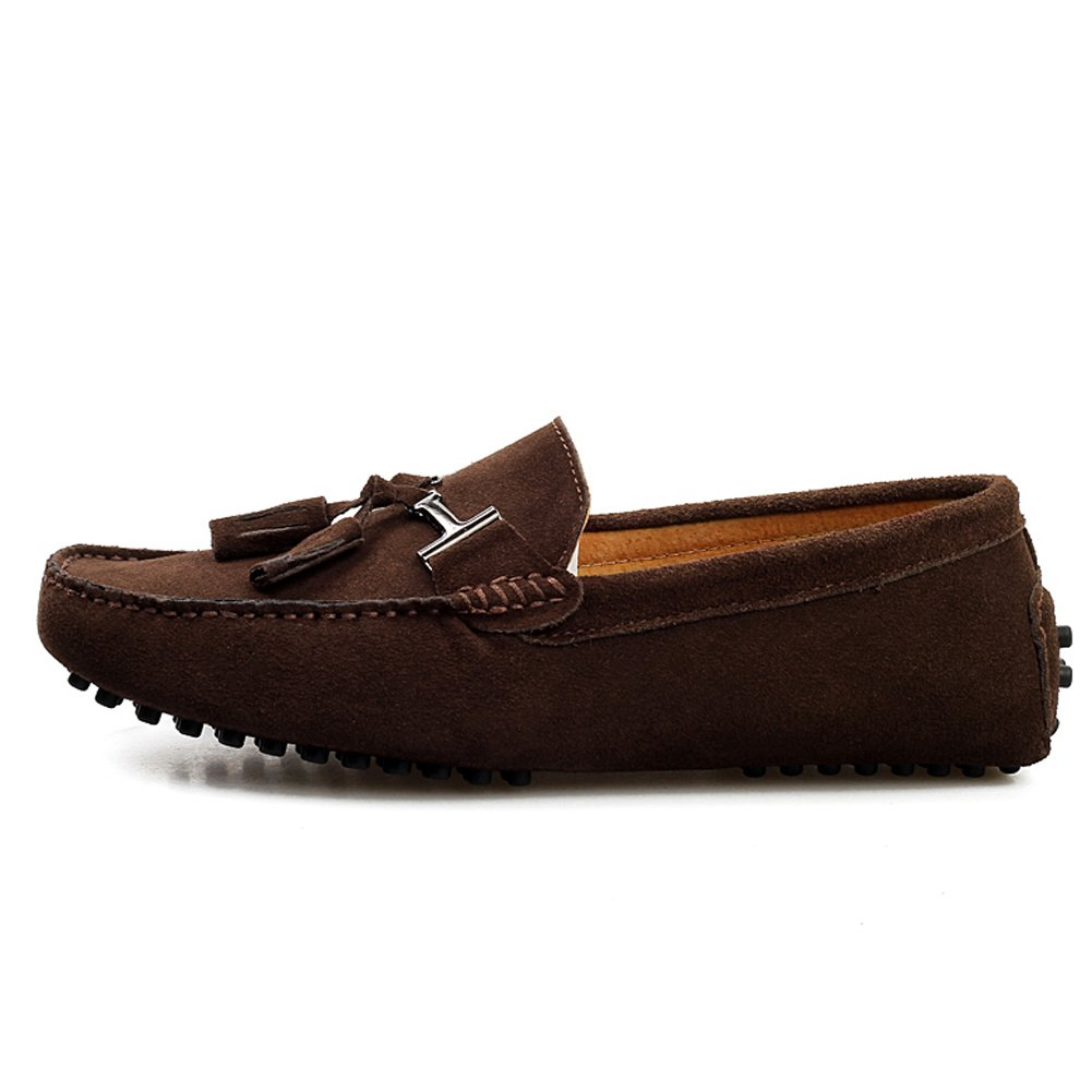 Amazon.com | rismart Mens Stylish Tassel Suede Moccasins Comfort Loafers Flats Driving Shoes | Loafers & Slip-Ons