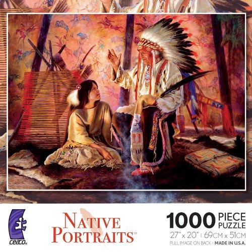 Native Portraits Legends of The Past 1000 Piece Jigsaw Puzzle
