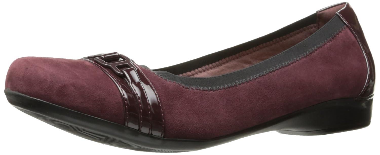 CLARKS Women's Kinzie Light Loafer Flat B01N7FQYXF 10 W US|Burgundy