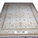 Cheap YILONG CARPET Yilong 9'x12′ Vintage Persian Rugs Handmade Silk on Silk Oriental Living Room Carpet