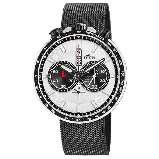 334ce77ccde6 Lotus Reloj Cronógrafo para Hombre de Cuarzo con Correa en Acero Inoxidable  10139 1  Amazon.es  Relojes
