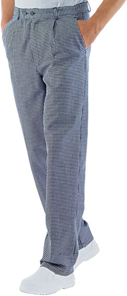 PANTALONE CUOCO CHEF SKULL 07 100/% COTONE MADE IN ITALY ISACCO повар брюки 廚師褲