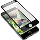 VRURC Black iPhone 6/6s Curved Screen Protector, Strong Durable 3D Tempered Glass Screen Protector for iPhone 6/6s [Bubble Free]