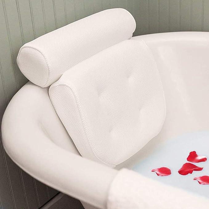 Whirlpool Ailyoo Almohadas de ba/ño de Malla Almohadas de ba/ño de Confort con ventosas Ergonomic Home SPA Reposacabezas para ba/ñera//Ergonomic Home SPA Reposacabezas para ba/ño Whirlpool