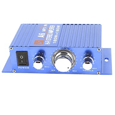 sourcingmap DC 12V 150W Car Stereo Audio Power Amplifier