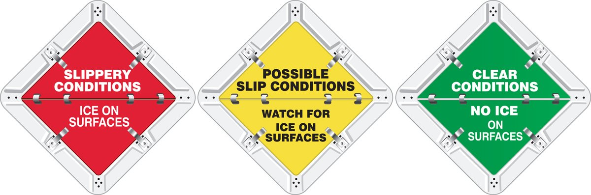 Slippery Conditions Ice On Surfaces / Possible Sli 10.75X10.75 Adhesive Vinyl Sign