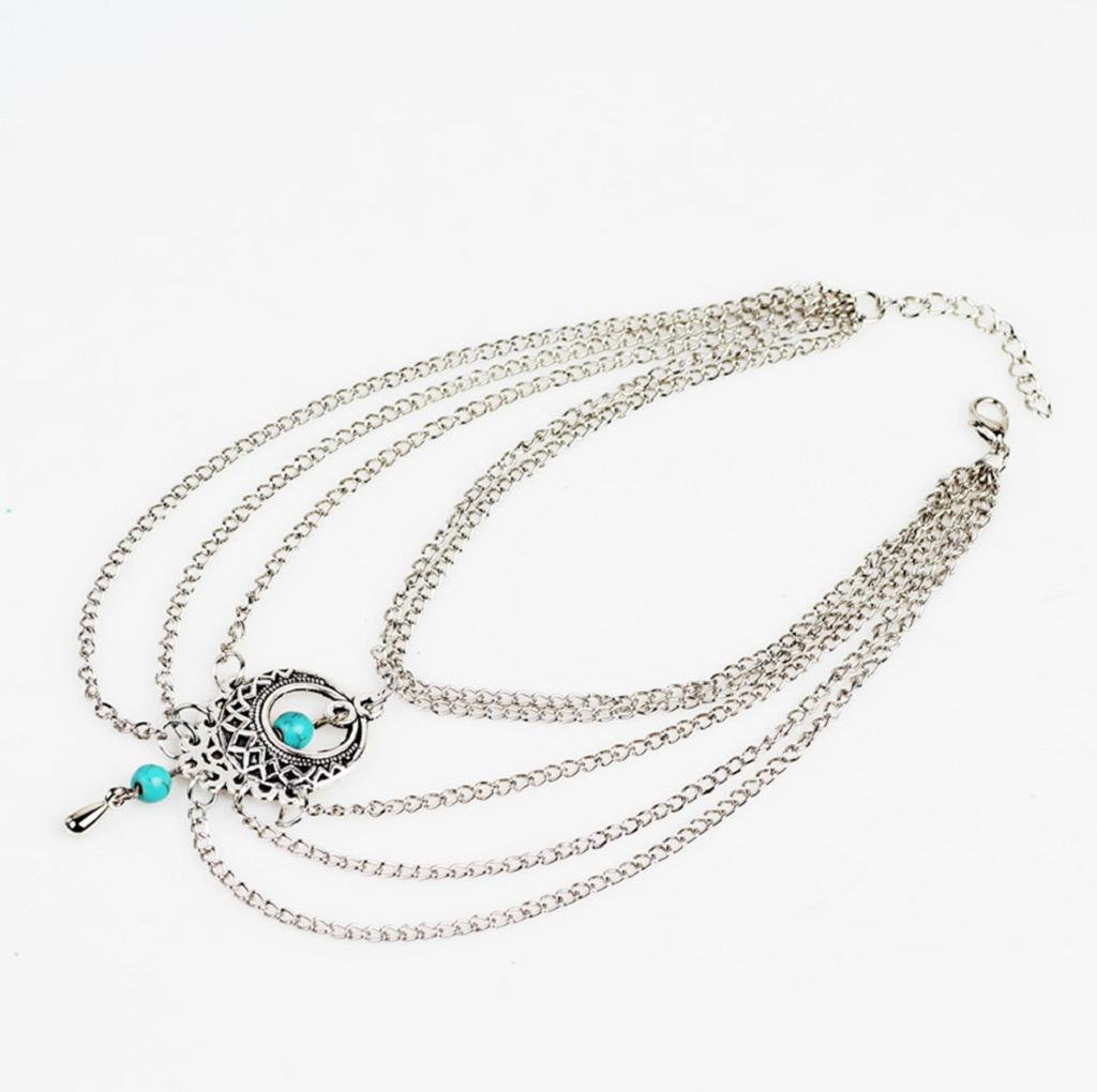 VIASA Women Stylish Foot Punk Tassel Jewelry Anklet Chain (A) by VIASA_Jewelry (Image #2)