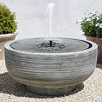Amazon.com: TekHome 2019 1.6W Solar Birdbath Fountain