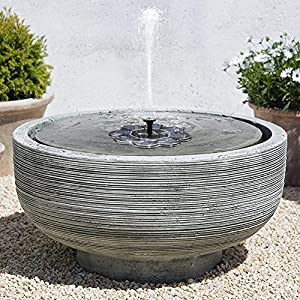 TekHome 2019 1.6W Solar Birdbath Fountain, Solar Powered <a href=