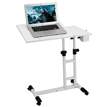 Amazoncom Adjustable Table Stand Angle Height Rolling Laptop