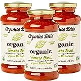 gluten free tomato paste - Organico Bello Gourmet Organic Pasta Sauce, Tomato Basil,24 ounce, 3 Count