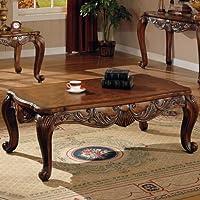 Coaster Home Furnishings 700468 Traditional Coffee Table, Brown