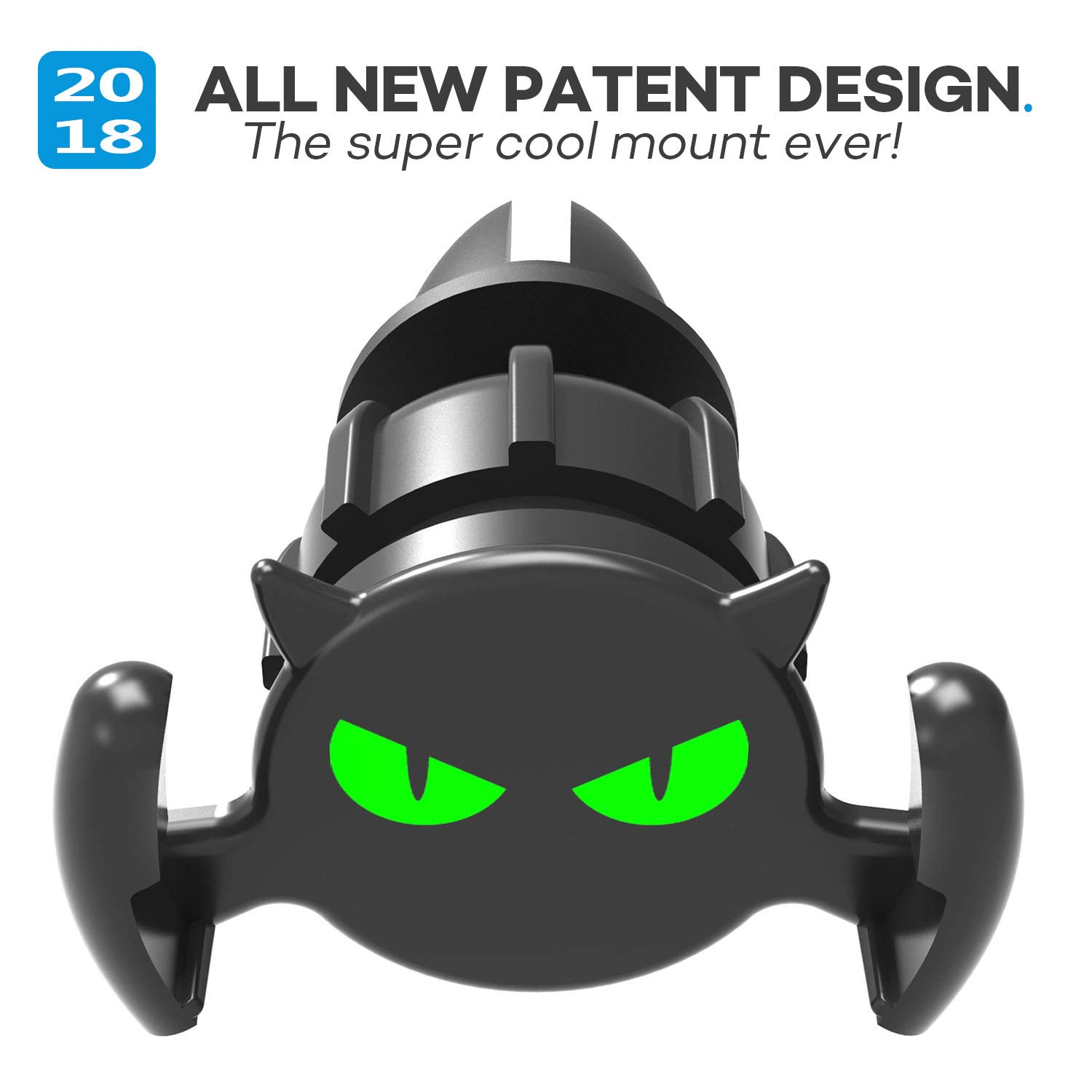 Black 5558977326 Quarble Little Devil Glowing Eyes 2 in 1 Car Air Vent Dashboard Mount Compatible with Pop Expanding Phone Grip and Stand All Cool Idea