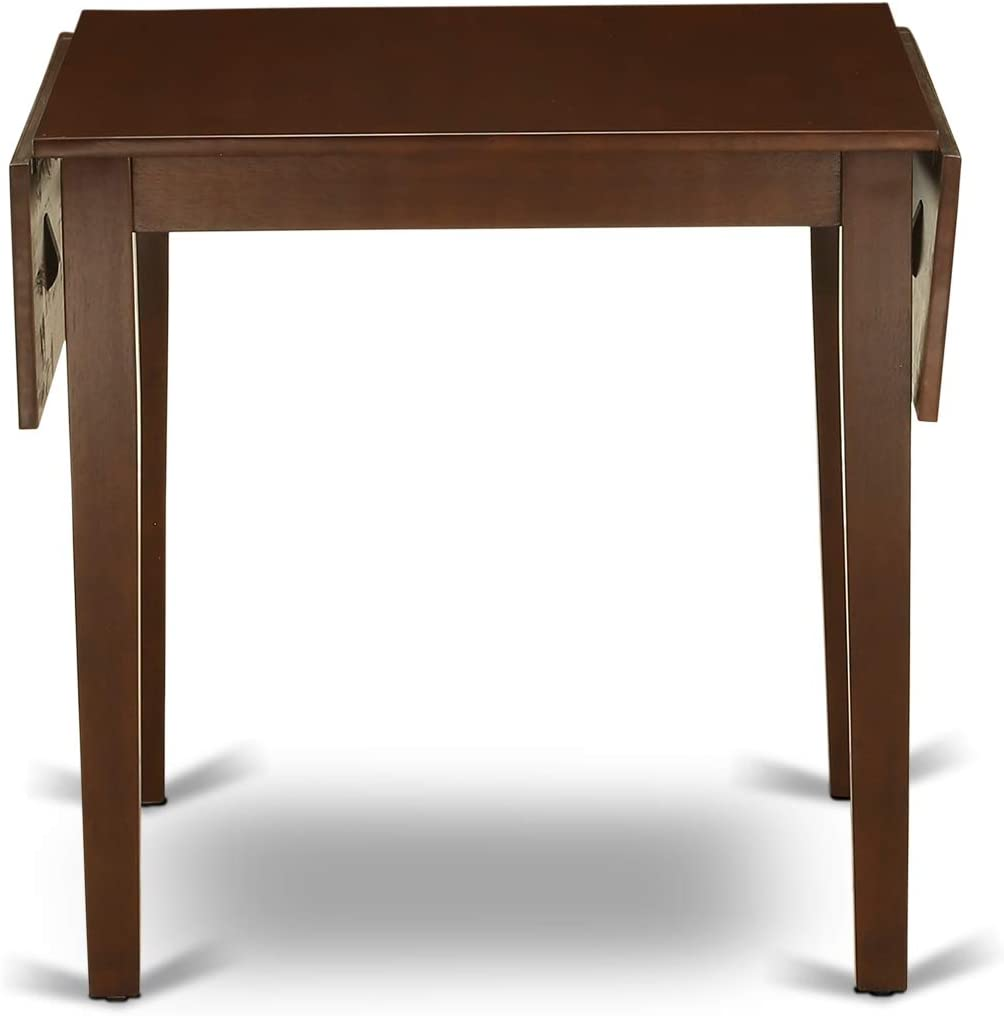 East West Furniture Norden Rectangular Table 30X48 With 2 Drop Leaves In Black /& Cherry Finish Medium
