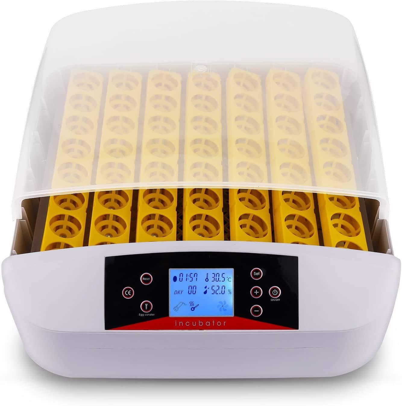 Incubadora de Huevos Automáticos con Volteo y Eclosión Automáticos 56 Huevos Pantalla Digital de Temperatura Iluminación LED para Gallinas, Patos, Gansos, Codornices