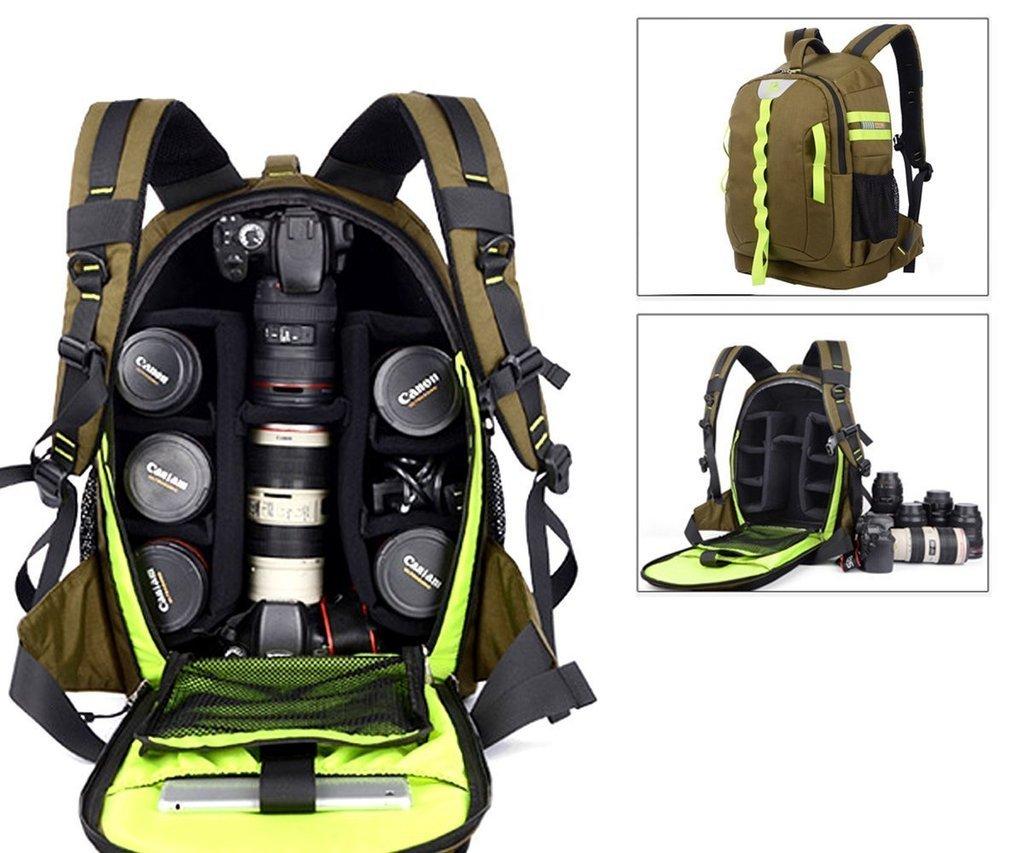 imperm/éable pour ordinateur portable pouces Yuhan Sac /à dos grande contenance pour appareil photo antichoc SLR//DSLR avec rembourrage int/érieur et protection anti-pluie pour Canon Nikon Sony