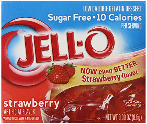 Jell-O Sugar-Free Gelatin Dessert, Strawberry, 0.30-Ounce Boxes (Pack of 6) (Free Text And Ca compare prices)