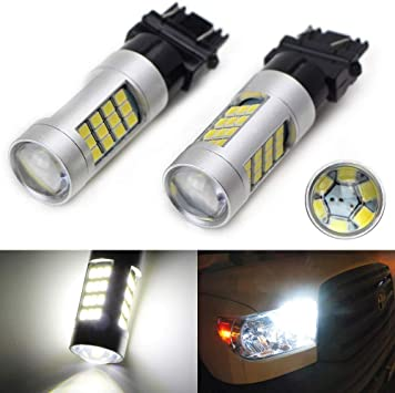White 33-SMD LED Bulbs For Chevy GMC Dodge Ford Daytime Running DRL Lights