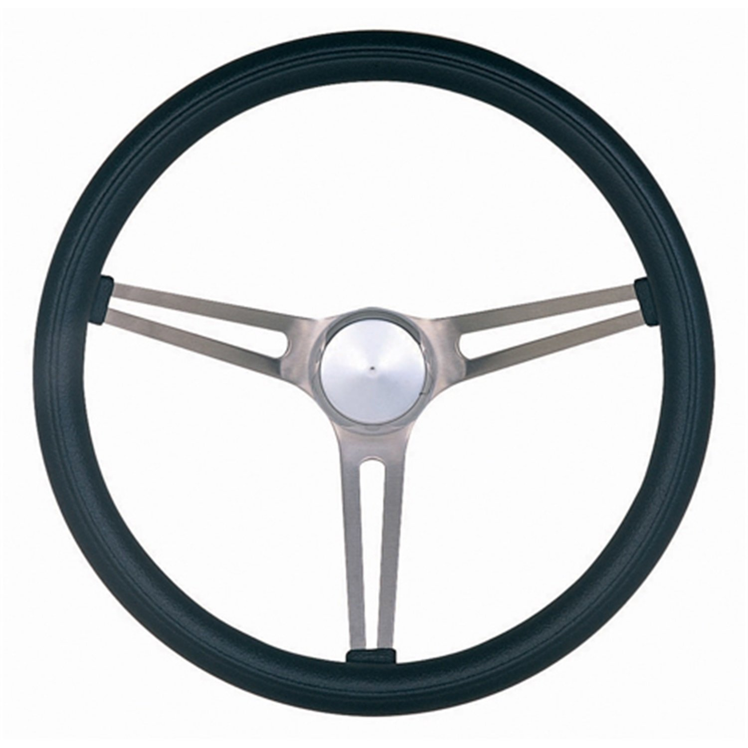 Grant 969-0 Classic Nostalgia Style Steering Wheel with Black Foam Grip and Brushed Stainless Spokes