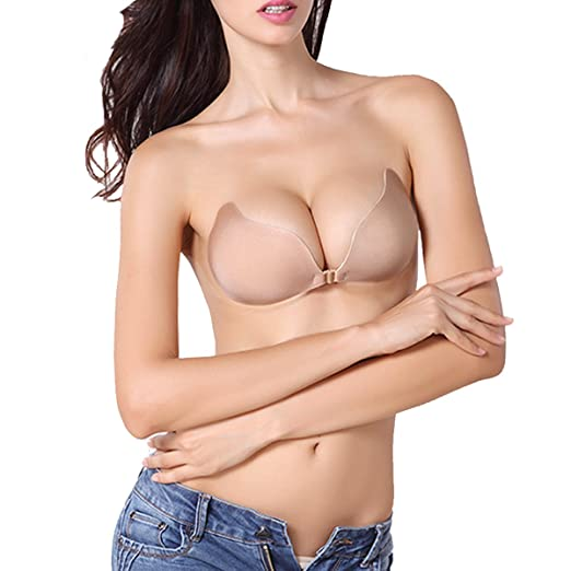 b73a56d87ae61 Image Unavailable. Image not available for. Color  ONine Strapless Bra  Reusable Self Adhesive Bra Invisible Backless Push ...